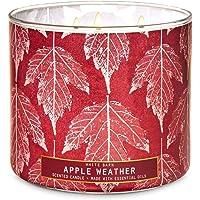 2020 White Barn Bath Apple Weather 3 Wick Candle (Fresh Apples, Lavender Leaves, Cinnamon Bark) W Burn Time of 25-45…