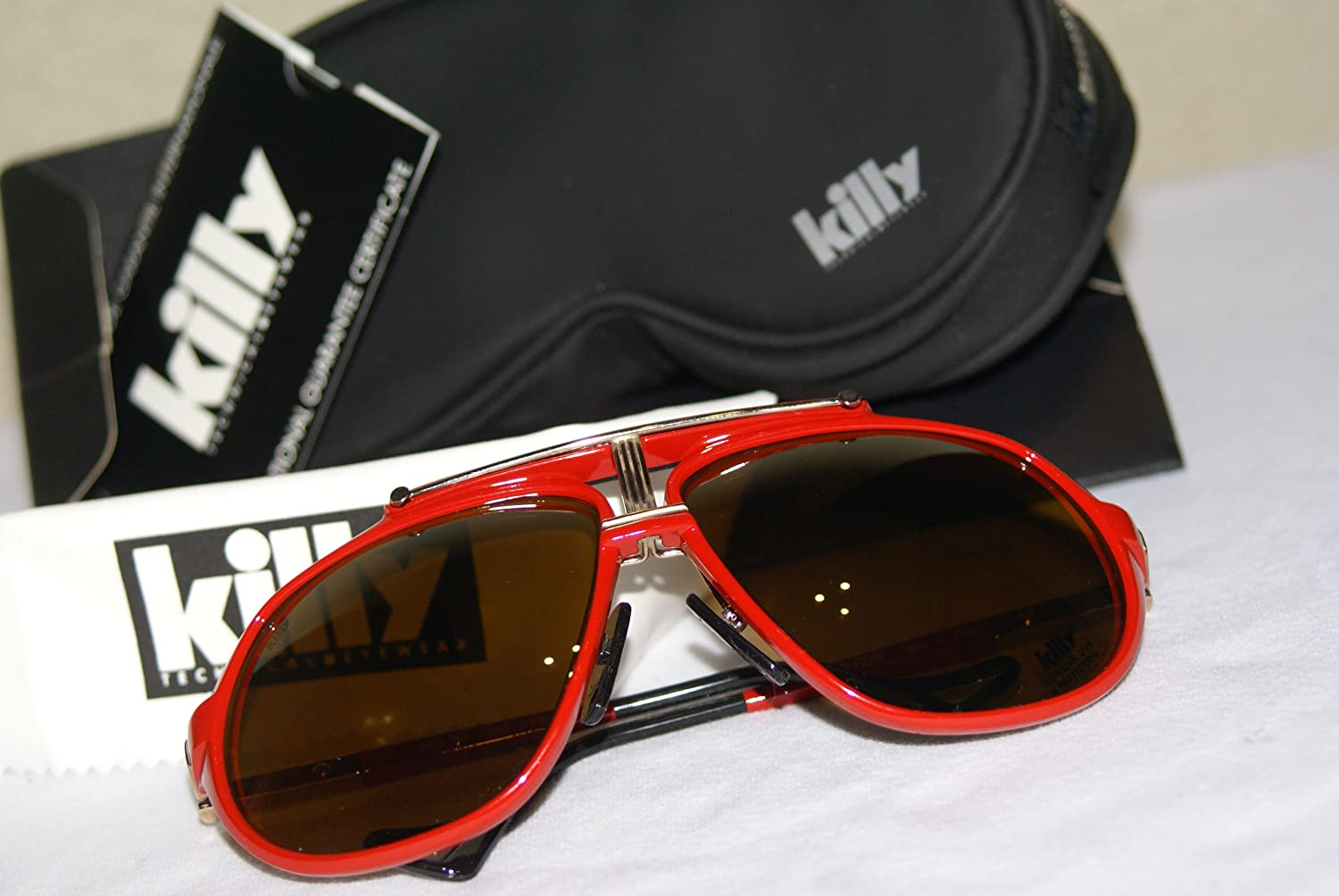 0198e5befdba Killy Cartier 469 carbon Red Ultra Rare Luxury Vintage Aviator Sunglasses ( RED)  Amazon.co.uk  Sports   Outdoors