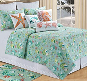 C&F Home 82038.6886 Laguna Breeze Twin Cotton Quilt, 66