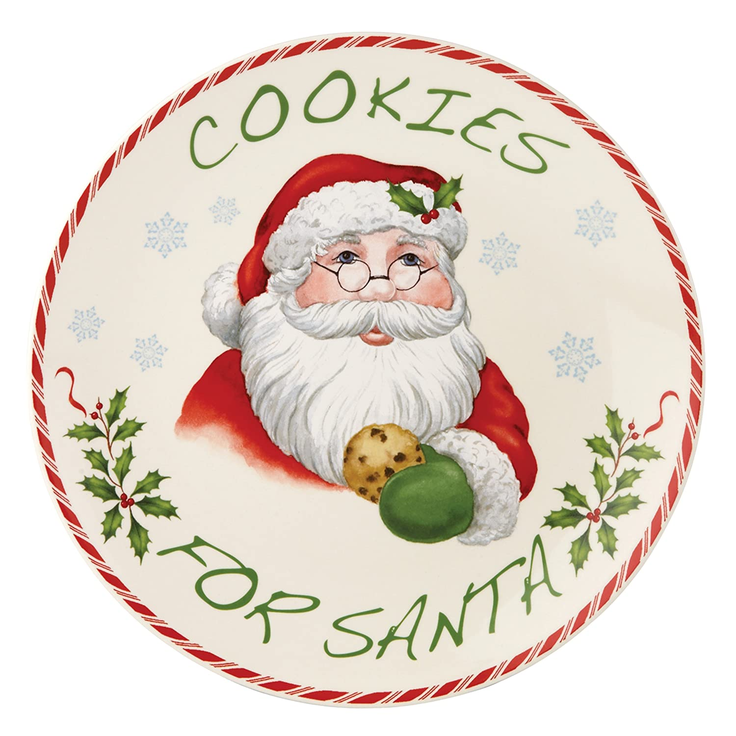 Amazon.com: Lenox Holiday Cookies for Santa Plate: Kitchen & Dining