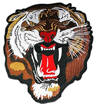 Large Size Big Head Bengal Tiger Big Cat Wild Animal jacket T shirt Patch Sew Iron  sc 1 st  Amazon UK : tiger head costume  - Germanpascual.Com