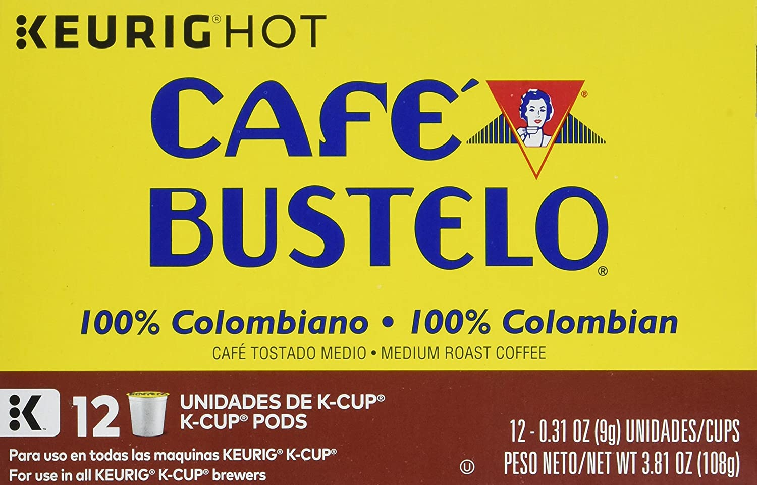 Cafe Bustelo 100% Colombian Kcup, 3.81 Ounce: Amazon.com: Grocery & Gourmet Food