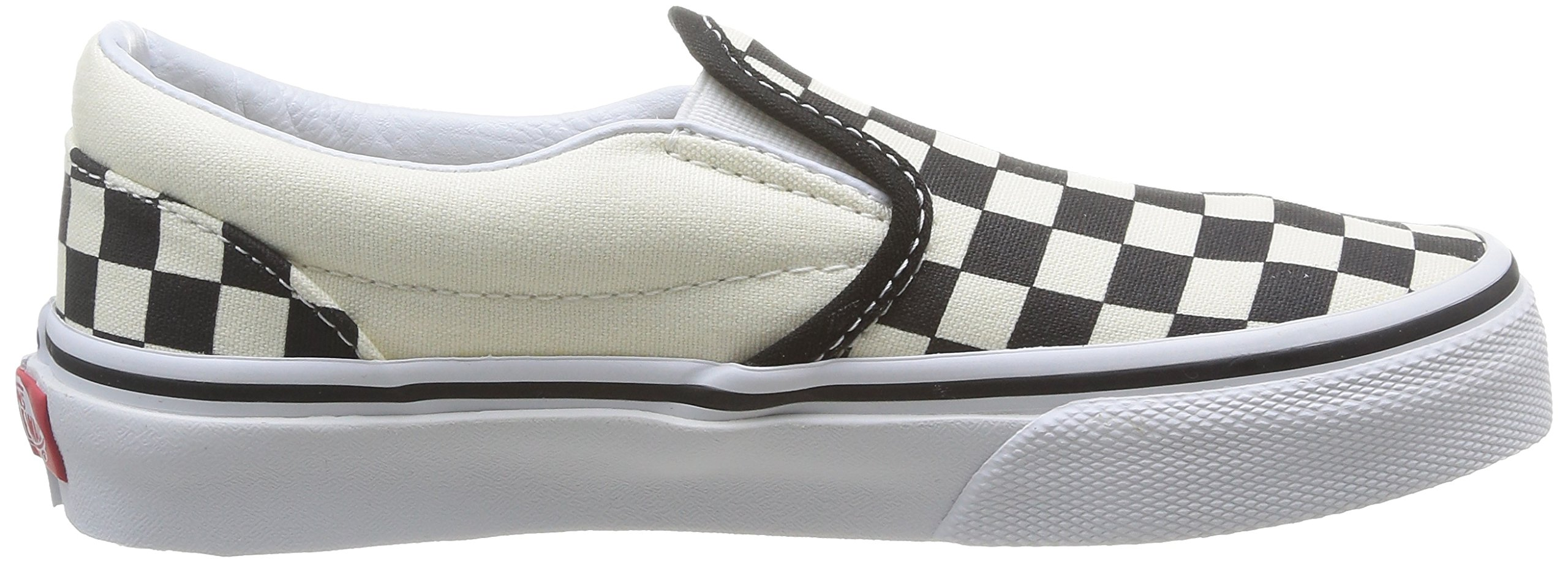 Vans Kids Classic Slip-On (Little Big Kid), ((Checkerboard) Black/White, 13 M by Vans (Image #7)