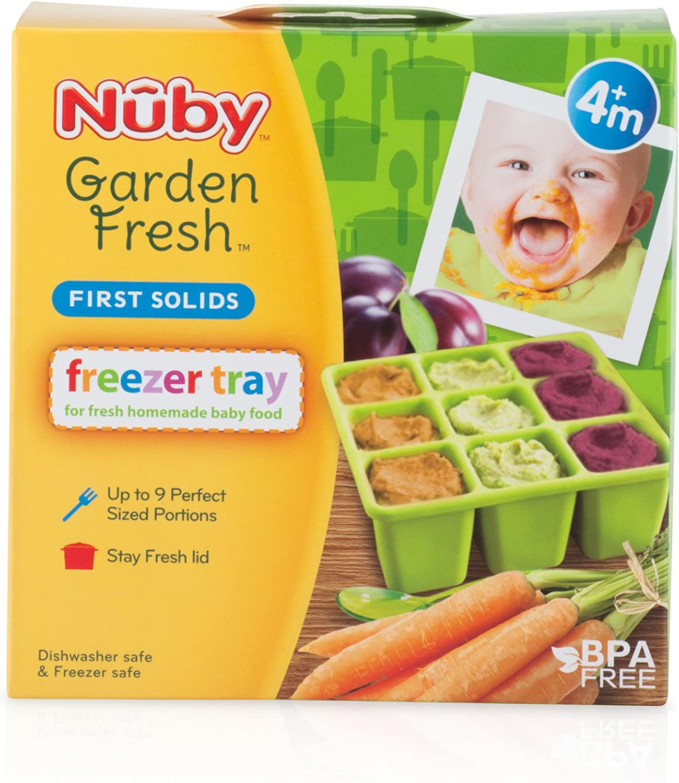Green Nuby 534345GR Garden Fresh Freezer Tray
