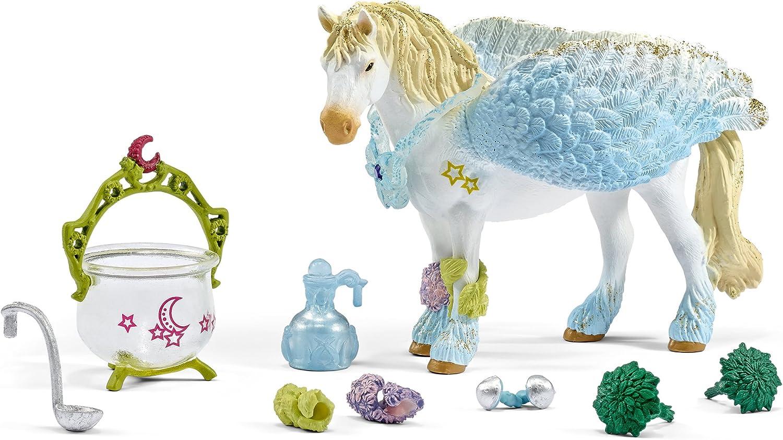 Schleich - Curación para Caballos y Unicornios. Set de Figura Pegasus y Accesorios.