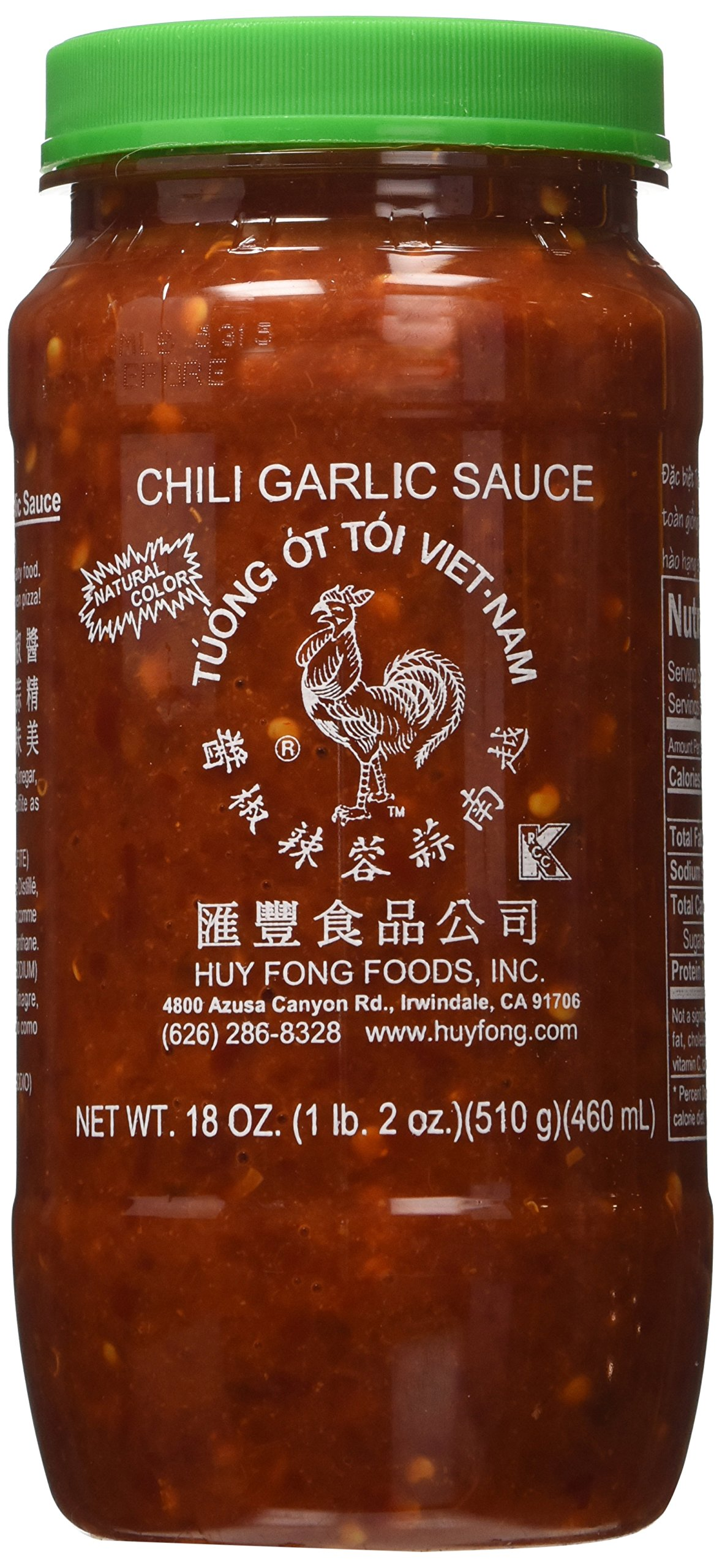 Huy Fong Sauce Chili Garlic,18 oz