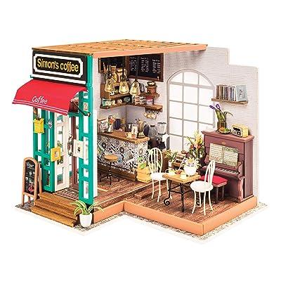 Fat Brain Toys DIY Miniature Model Kit: Simon's Coffee Shop: Toys & Games
