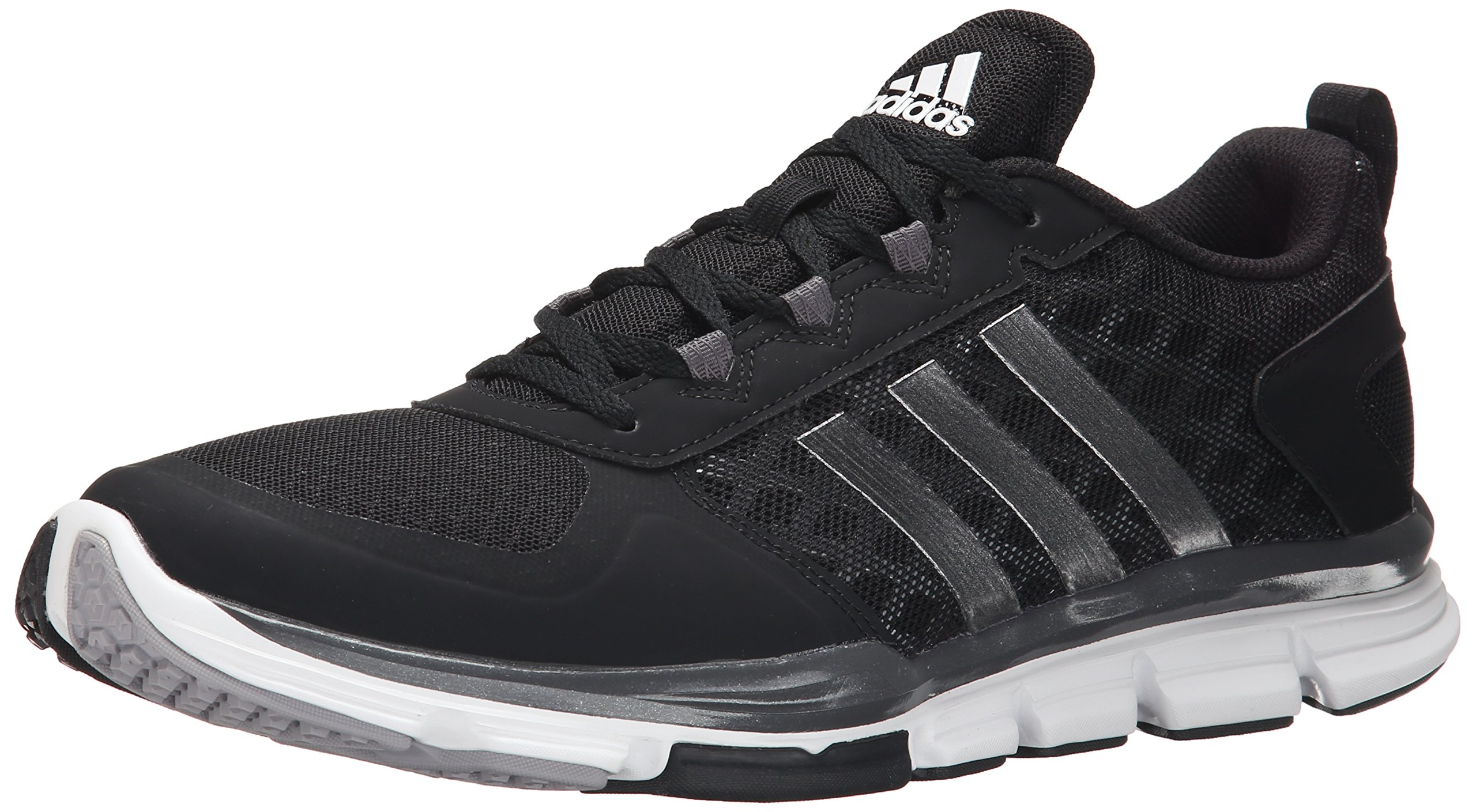 adidas Performance Men's Speed Trainer 2 Training Shoe, Black/White/Carbon Metallic, 12.5 M US