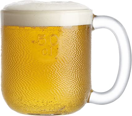 Iittala Krouvi Clear Glass Beer Mug 20 oz.