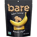 Bare Baked Crunchy Banana Chips, Simply, Gluten Free, 2.7 Ounce, Pack of 6