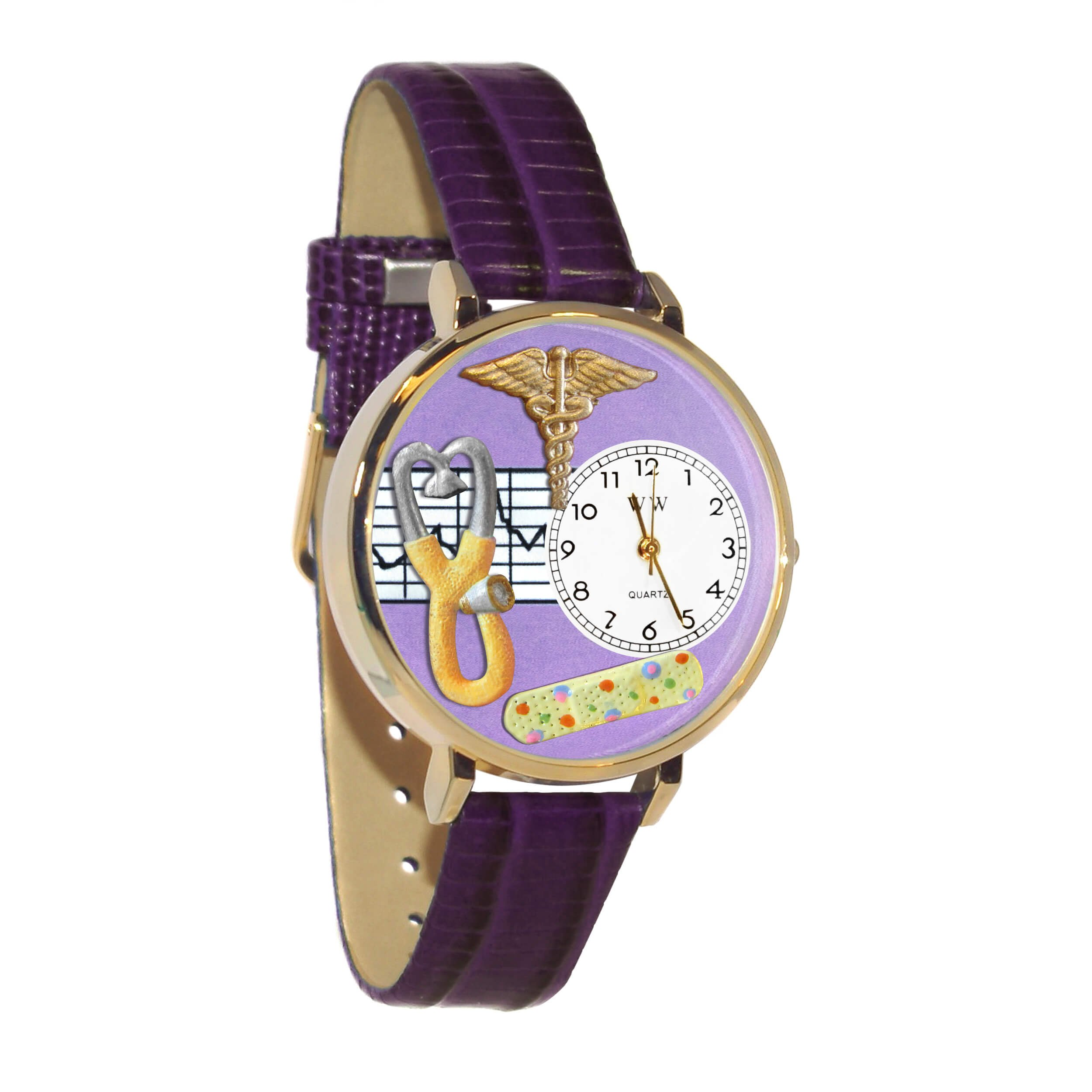 Whimsical Watches Unisex G0620050 Nurse 2 Analog Display Japanese Quartz Purple Watch