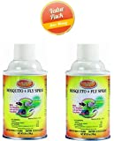 ZEP 342033CV Mosquito/Fly Refill Repellent Spray, 6.9-Ounce, 2 -Pack