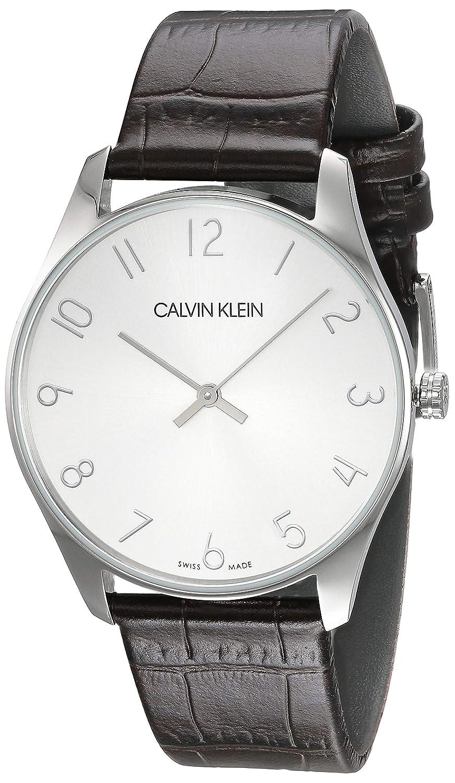 Calvin Klein K4D211G6 - Reloj de Pulsera Hombre, Cuero, Color Marrón