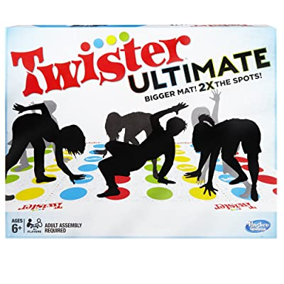 Twister Ultimate: Bigger Mat, More Colored Spots, Family, Kids Party Game Age 6+; Compatible with Alexa ( Exclusive): Toys & Games