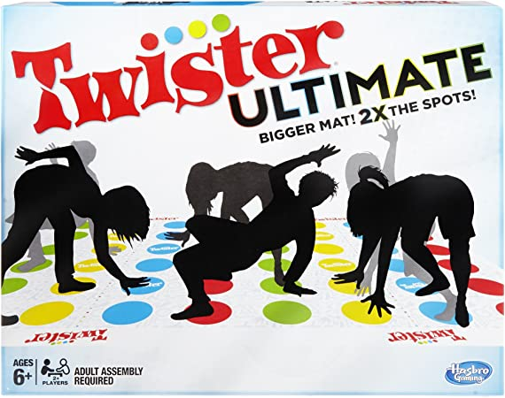 Twister Ultimate: Bigger Mat, More Colored Spots, Family, Kids Party Game (Age 6+)