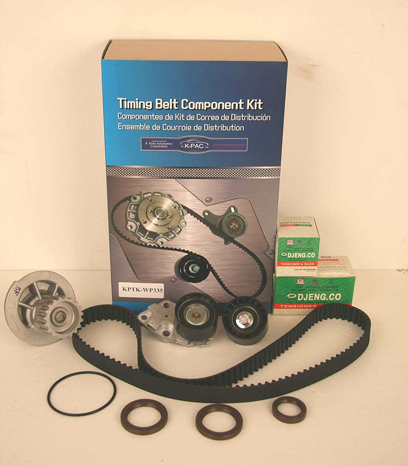 GENUINE Timing Belt Kit with WATER PUMP for 99-08 Daewoo Lanos Chevrolet Aveo Aveo5 1.6L KPTKWP335