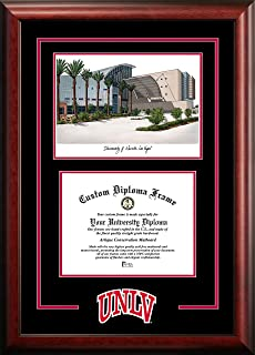 Officially Licensed Church Hill Classics UNLV Tassel Edition Diploma Frame 8.5 h x 11 w Diploma Size Features Solid Wood Southport Moulding