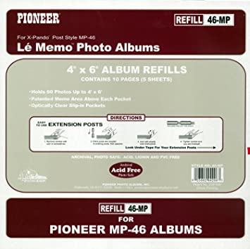 Amazoncom Pioneer Memo Pocket Album Refill 4 Inch By 6 Inch For Mp