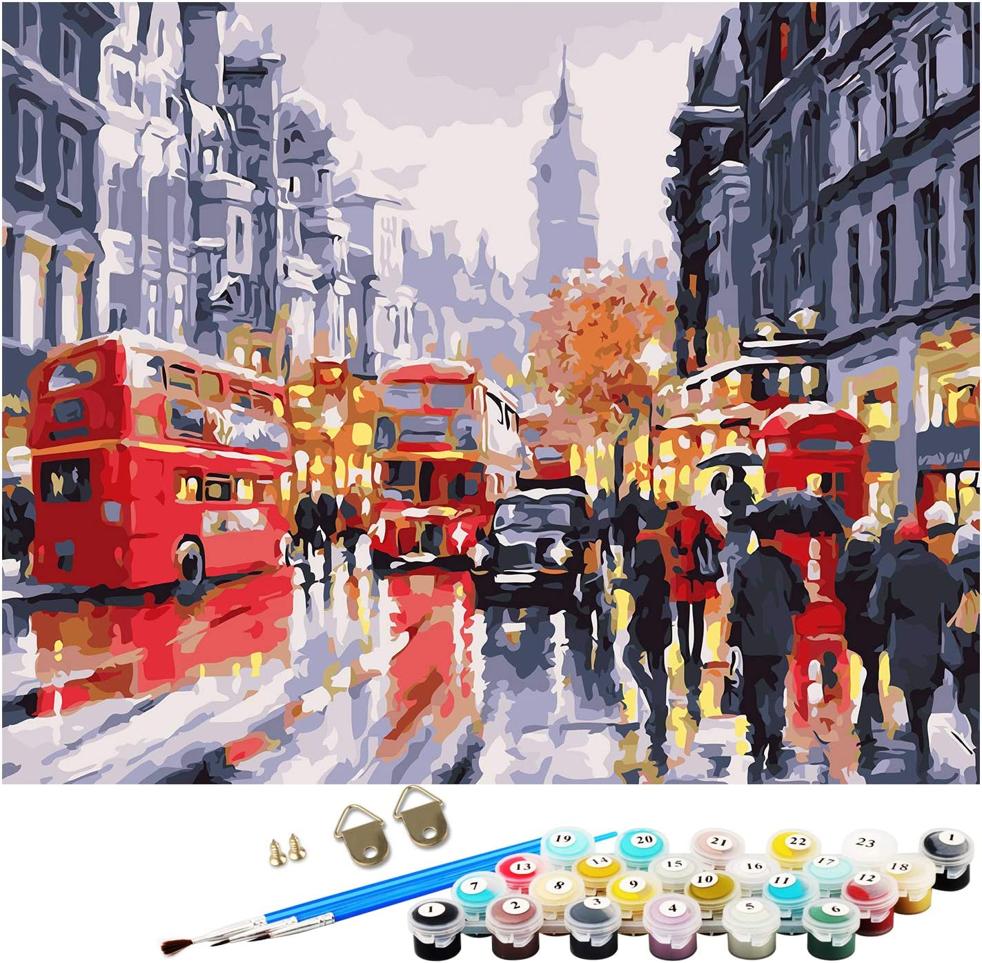 TENOL DIY Oil Paint by Numbers Kit WAS £12.99 NOW £6.49 w/code A7JKW98F @ Amazon