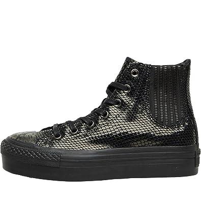 9314c37802a134 Converse Hi Platform Chelsea Boots Snakeskin Leather Black  Amazon.co.uk   Shoes   Bags