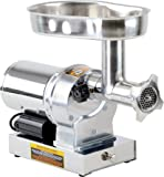Kitchener #12 Commercial Grade Electric Stainless Steel Meat Grinder 3/4 HP (550W), (720-lbs Per Hour)