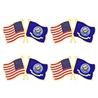 4 Pack US Navy Flag Pin United States Military Flags Lapel Pins