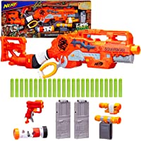 Nerf Zombie Strike Toy Scravenger Blaster with Two 12-Dart Clips