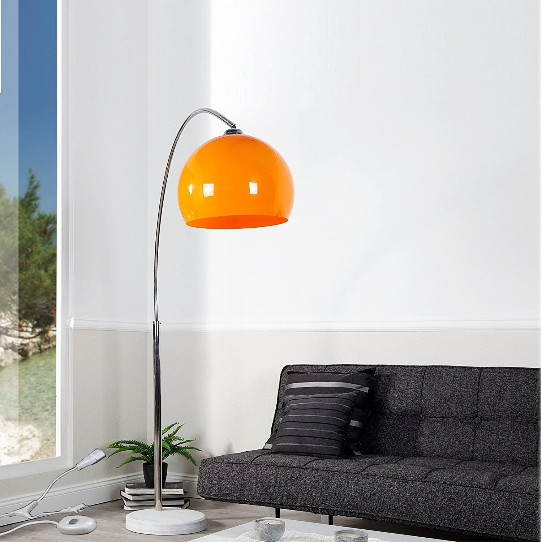 DESIGN DELIGHTS XTF24 Stehleuchte Dimmbar Verstellbare Höhe Und  Retro Design, Orange: Amazon.de: Küche U0026 Haushalt