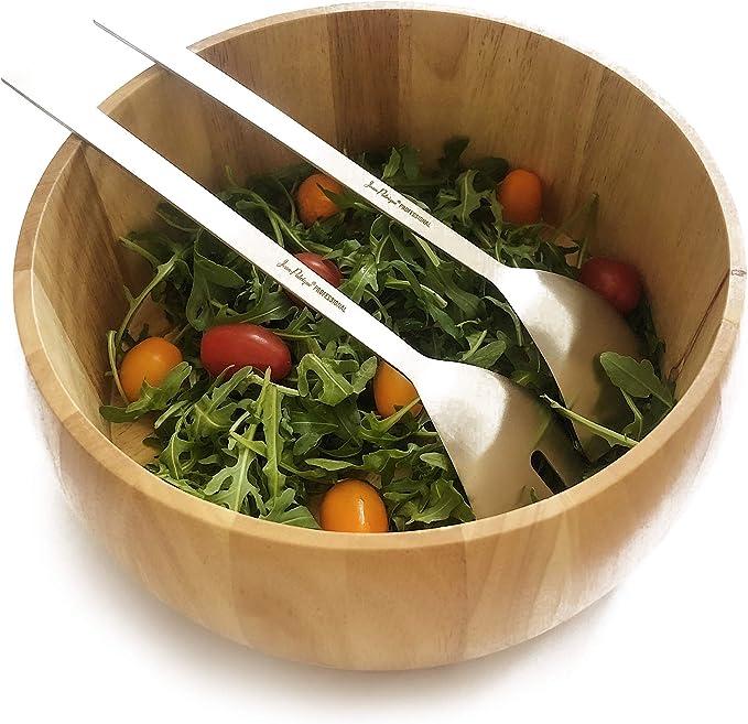 Salad Bowl & Stainless Steel Salad Servers Set