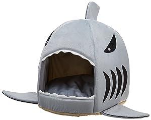 PetStyle ペットハウス 鮫型 ベッド 猫ハウス ペットベッド 猫ベッド 犬ハウス ソファ サメ型