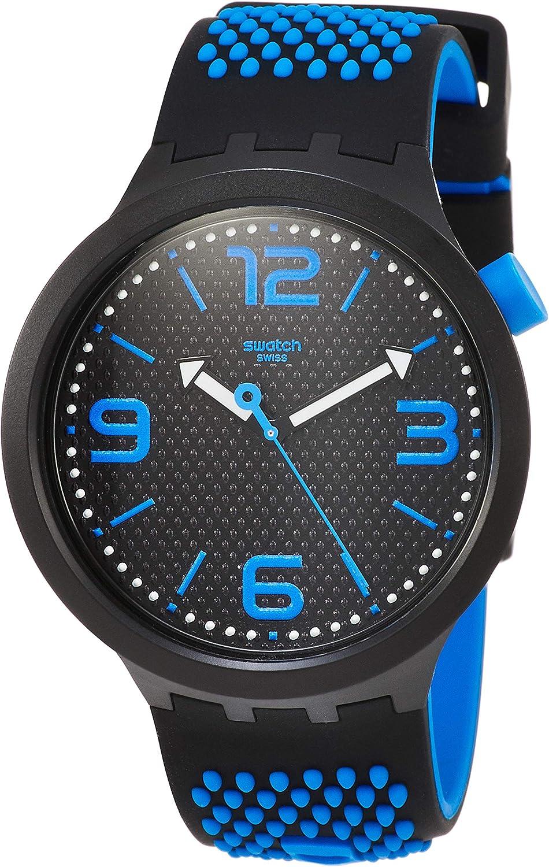 Swatch Reloj Analógico para Hombre de Cuarzo con Correa en Silicona SO27B101