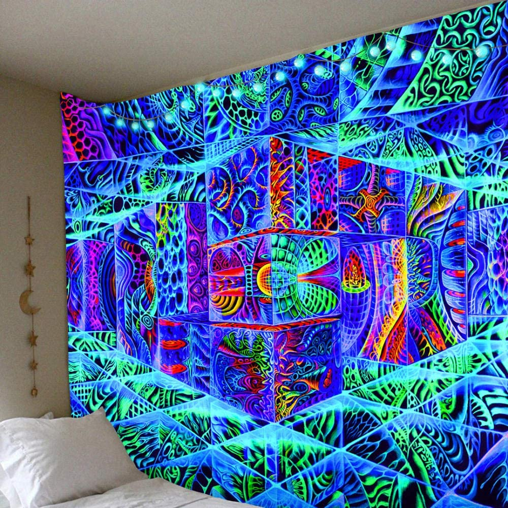 Abstract Art Wall Hanging Tapestry Psychedelic Bedroom Home Decoration