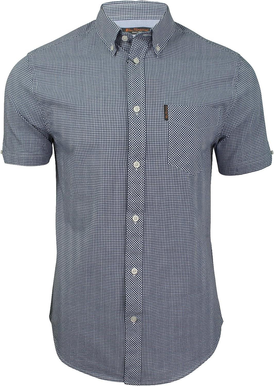 Ben Sherman - Camisa clásica de cuadros para hombre Azul Mezclilla azul. 3XL: Amazon.es: Ropa y accesorios