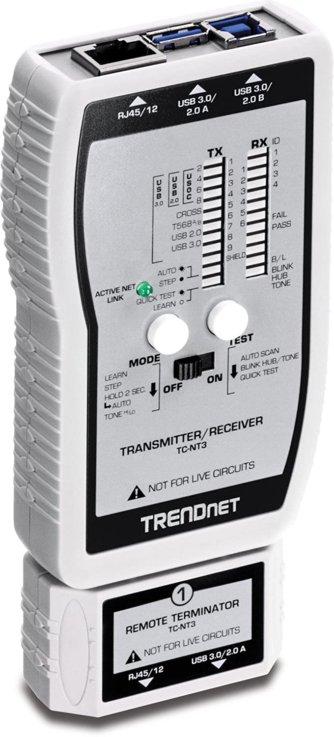 5. TRENDnet VDV and USB Cable Tester TC-NT3