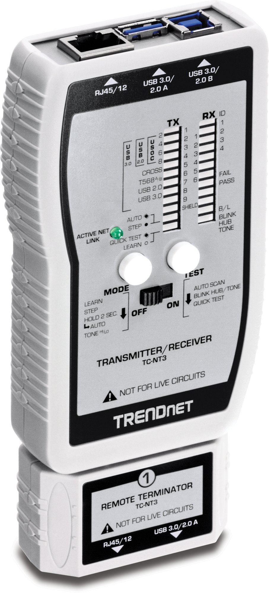 TRENDnet VDV and USB Cable Tester, TC-NT3 by TRENDnet
