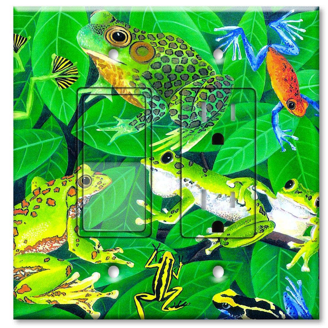 高品質の人気 Printed壁プレートwith Frogs Matchingロッカースイッチおよび/またはコンセント – – Frogs マルチカラー マルチカラー 117-Printed-Switch-Outlet Combo B00J1W73DU コンセント付きスイッチ, マニアックホームセンター:1b162670 --- svecha37.ru