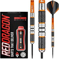 Red Dragon Amberjack 21g, 22g, 23g, 24g or 25g Tungsten Darts Set with Flights and Stems