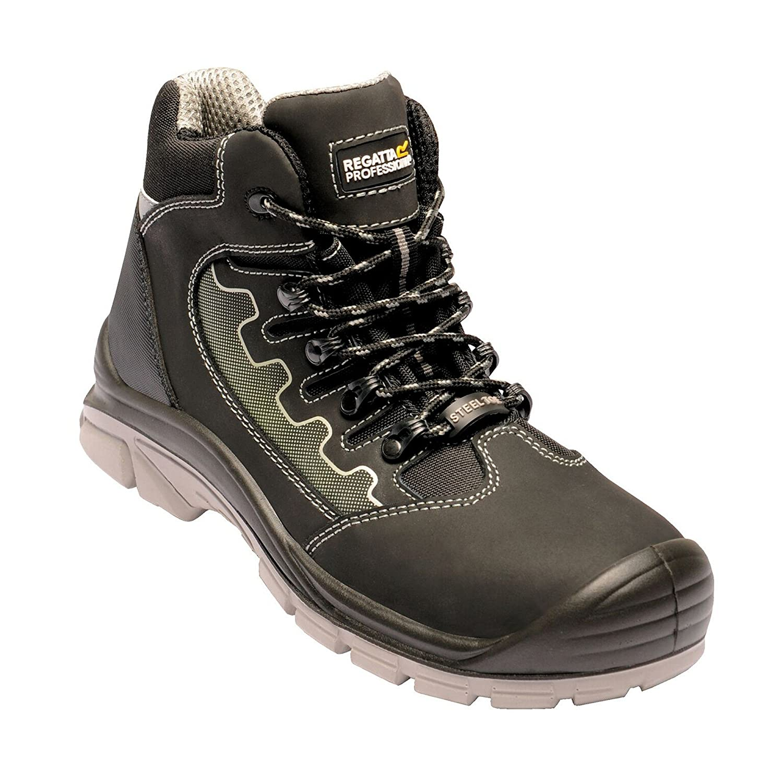 Regatta Leder Hardwear Herren Region S3 Leder Regatta Safety Hikers Schwarz/Oxford Blau 371518