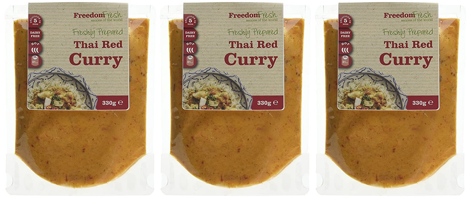 Freedom Fresh Sauces of the World Thai Red Curry 330 g (Pack of 3 ...