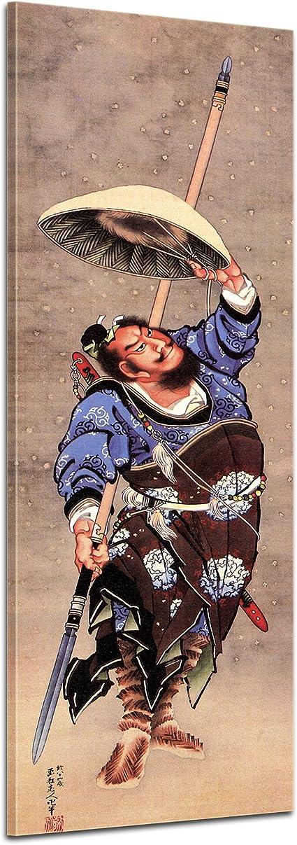 Bilderdepot24 Tela Immagine Katsushika Hokusai Samurai Panorama 30x90cm Immagine Del Telaio A Cuneo Murale Antichi Maestri Foto Su Tela Immagine Su Tela Pitture Amazon It Casa E Cucina