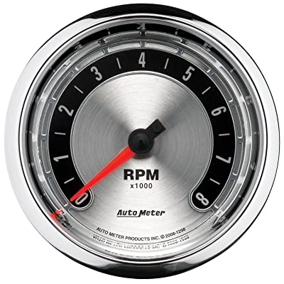 "Auto Meter 1298 American Muscle 3-3/8"" 8000 RPM In-Dash Tachometer Gauge"