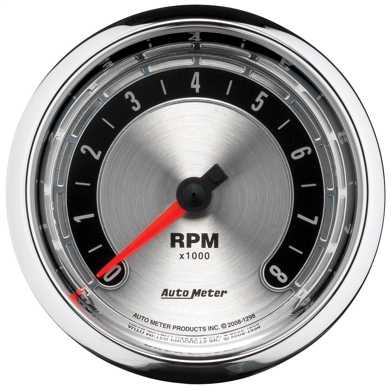 Auto Meter 1298 American Muscle 3-3/8' 8000 RPM In-Dash Tachometer Gauge