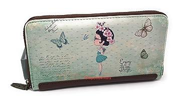 Cartera Mujer Colección Aire 2018-2019, Monedero. La Petite Khiara (Aire Verde