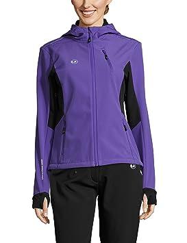 Ultrasport Advanced Chaqueta softshell para mujer Bibi, chaqueta funcional moderna de dos colores, chaqueta outdoor, chaqueta de correr, ...