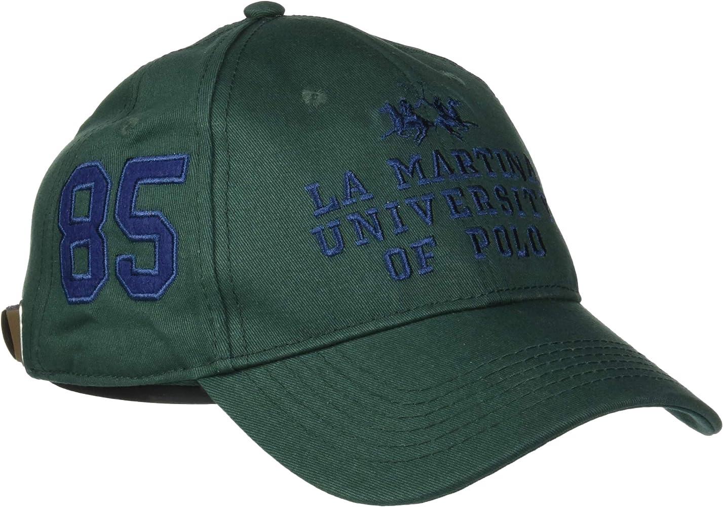 La Martina Cap Baseball Twill Gorra de béisbol, Verde (Black ...