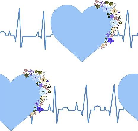 EKG Medical Fabric Blue 1556-C