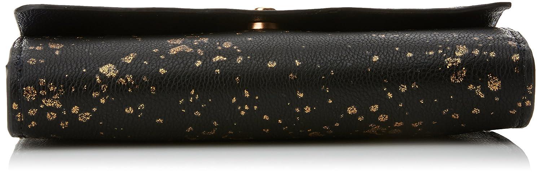 Desigual Damen Mone_reversible Metal Splatter. 2000. U Clutch, Schwarz (schwarz) (schwarz) (schwarz) 3x11x20.6 cm B06XPZR9CB Geldbrsen a02703
