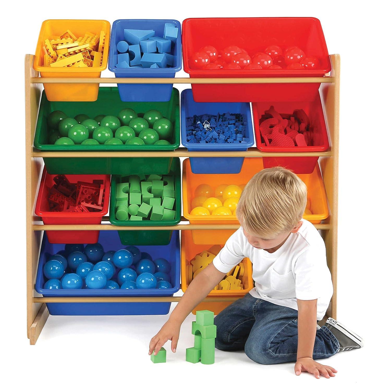 Amazon Tot Tutors Kids Plastic Bin Toy Storage Organizer