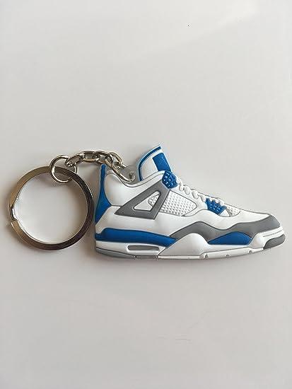 online retailer 38e9b ebfe9 Amazon.com : Jordan Retro 4 Military Blue Sneaker Keychain ...