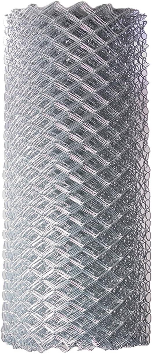 ALEKO Vinyl-Coated Galvanized Steel Chain Link Fence Kit 4 x 50 ft Black